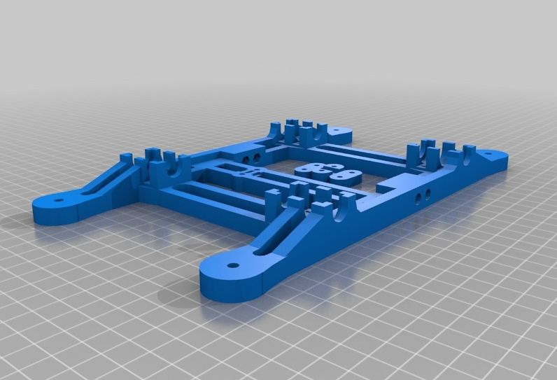 Prusa i2 Basisplaat (y-carriage) v1 model