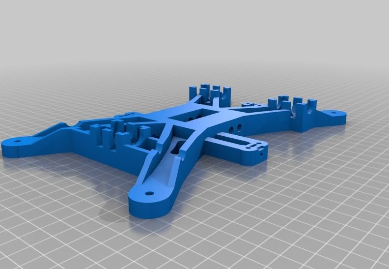 Prusa i2 Basisplaat (y-carriage) v2 model