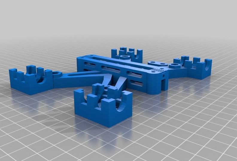 Prusa i2 Basisplaat (y-carriage) v3 model