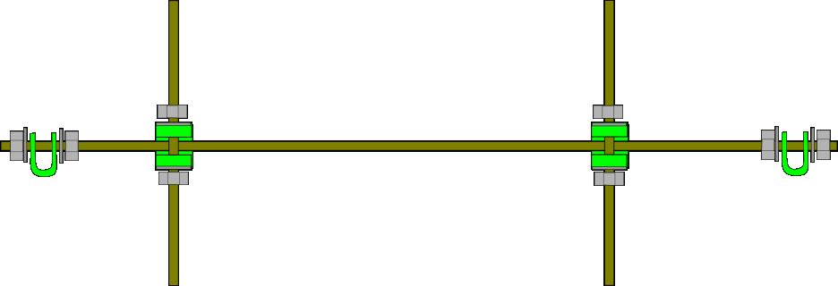Prusa i2 Mendel instructie bottom-rod
