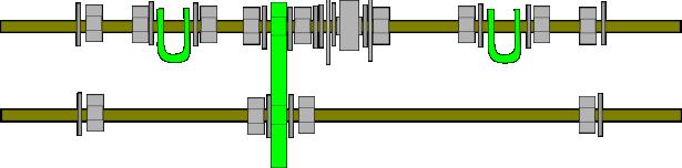 Prusa i2 Mendel instructie front-rods-bare
