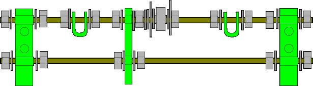 Prusa i2 Mendel instructie front-rods
