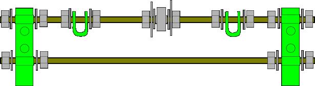 Prusa i2 Mendel instructie rear-rods
