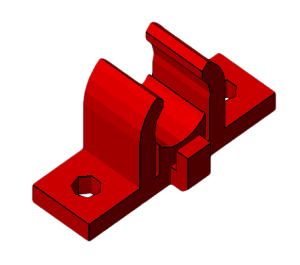 Prusa i2 Mendel onderdeel bushing-holder