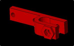 Prusa i2 Mendel onderdeel endstop-holder