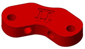 Prusa i2 Mendel onderdeel frame-vertex