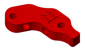 Prusa i2 Mendel onderdeel frame-vertex-foot