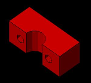 Prusa i2 Mendel onderdeel rod-clamp