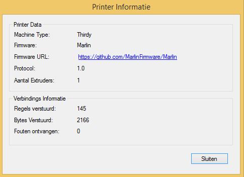 Prusa i3 - Printer informatie