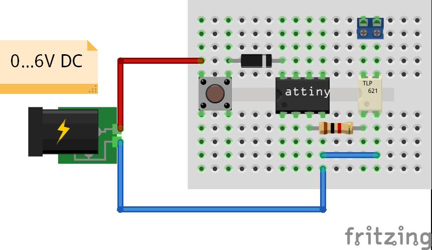 ATtiny met optocoupler