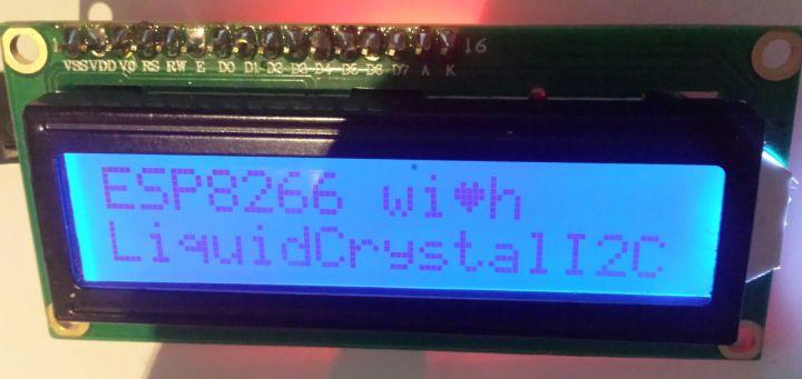 ESP8266 ESP-01 GPIO LCD 1602 praktijk