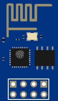 ESP8266 ESP-01 WiFi module fritzing