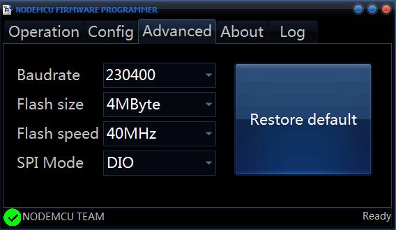 ESP8266 flashen met NodeMCU flasher 01