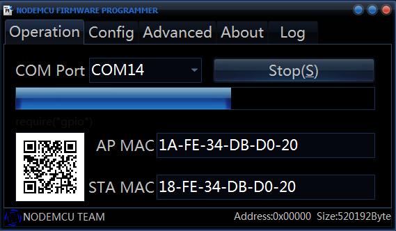 ESP8266 flashen met NodeMCU flasher 03