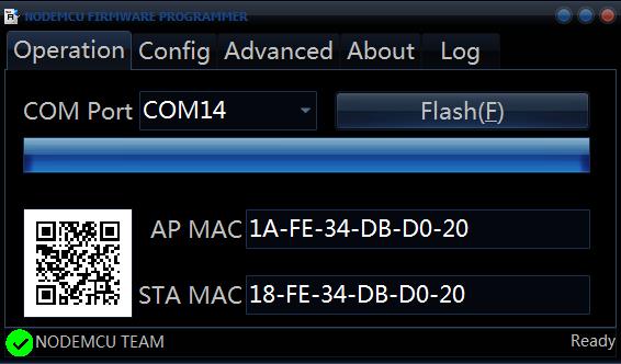 ESP8266 flashen met NodeMCU flasher 04
