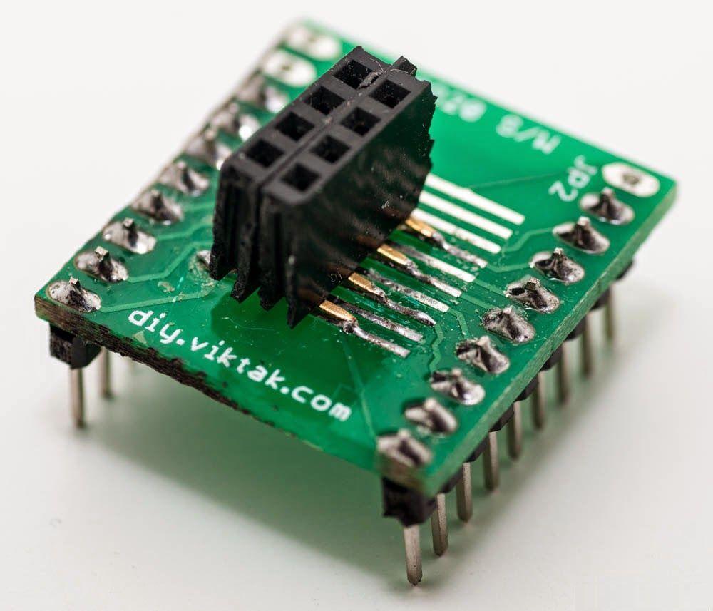 ESP8622 ESP-01 module adapter zelfgemaakt 01