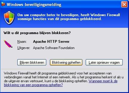 apache firewall toestemming
