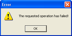 apache operation failed