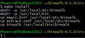 cygwin make install