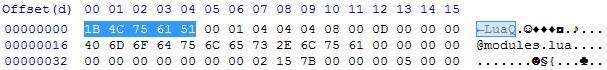 luac v5.1.x header