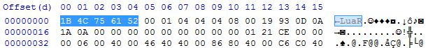 luac v5.2.x header