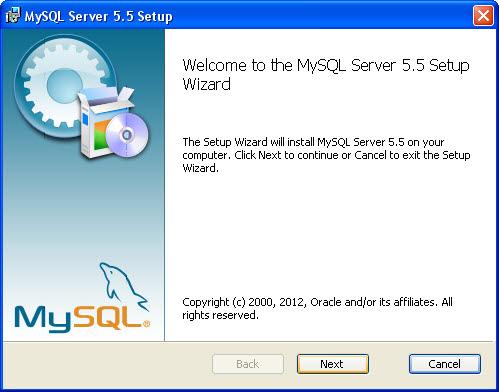 mysql server installatie 01