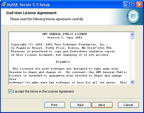 mysql server installatie 02