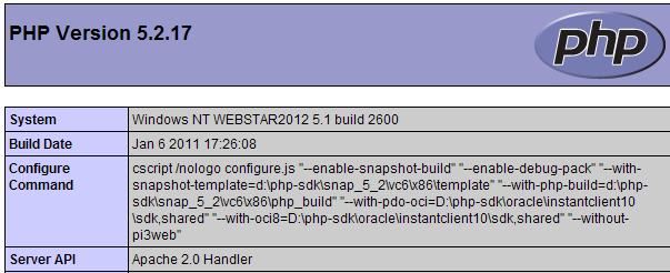 php 5.2.x testen