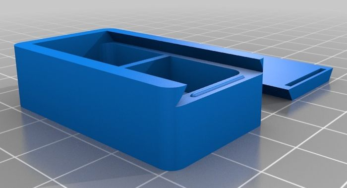 Box with Sliding Top model