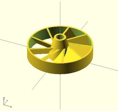 Ducted Fanwheel model