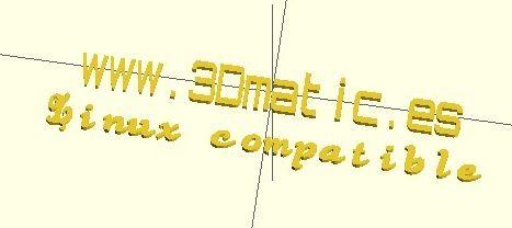 OpenSCAD Lettertype DXF model