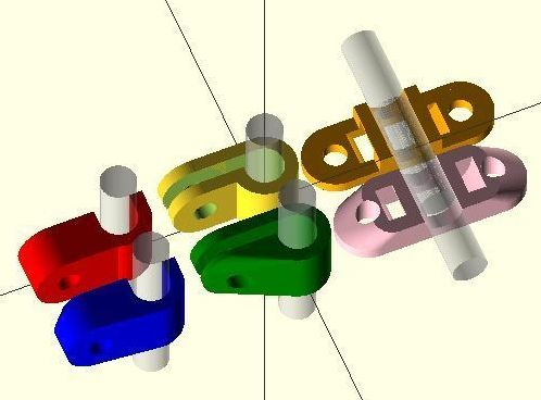 Parametric Cable or Pipe Clip model
