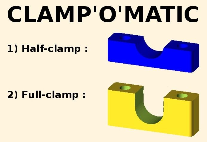 Parametric cable clamp model