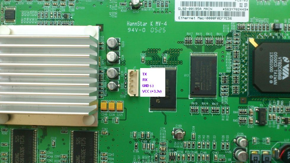 SAMSUNG SMT-6010E UART