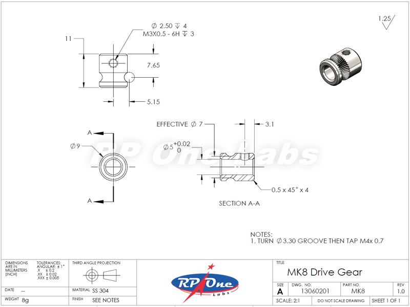 mk8 drive gear