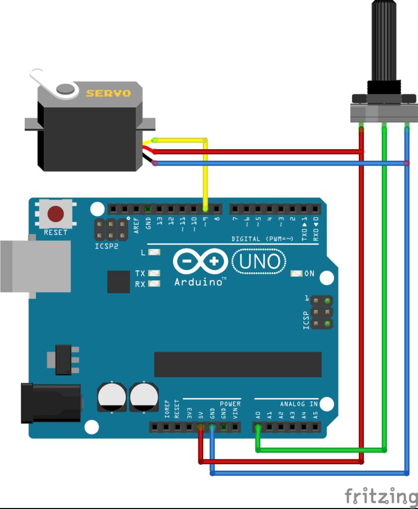 Arduino servo met potmeter