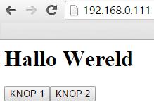 ESP Arduino website voorbeeld