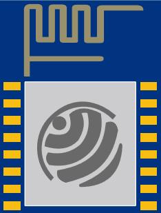 ESP8266 ESP-12 fritzing