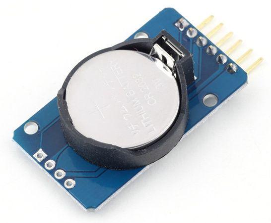RTC Tijdklok DS3231 module batterijkant