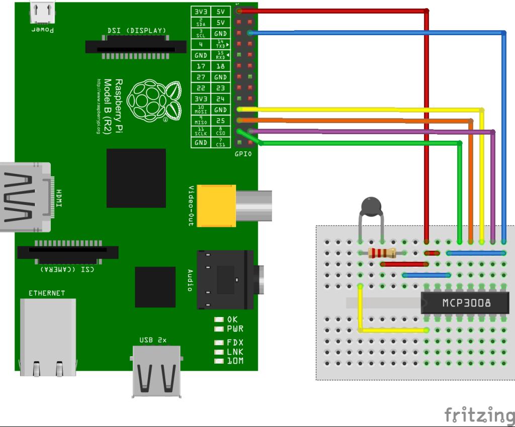 Raspberry-Pi-met-MCP3008-en-NTC-schema