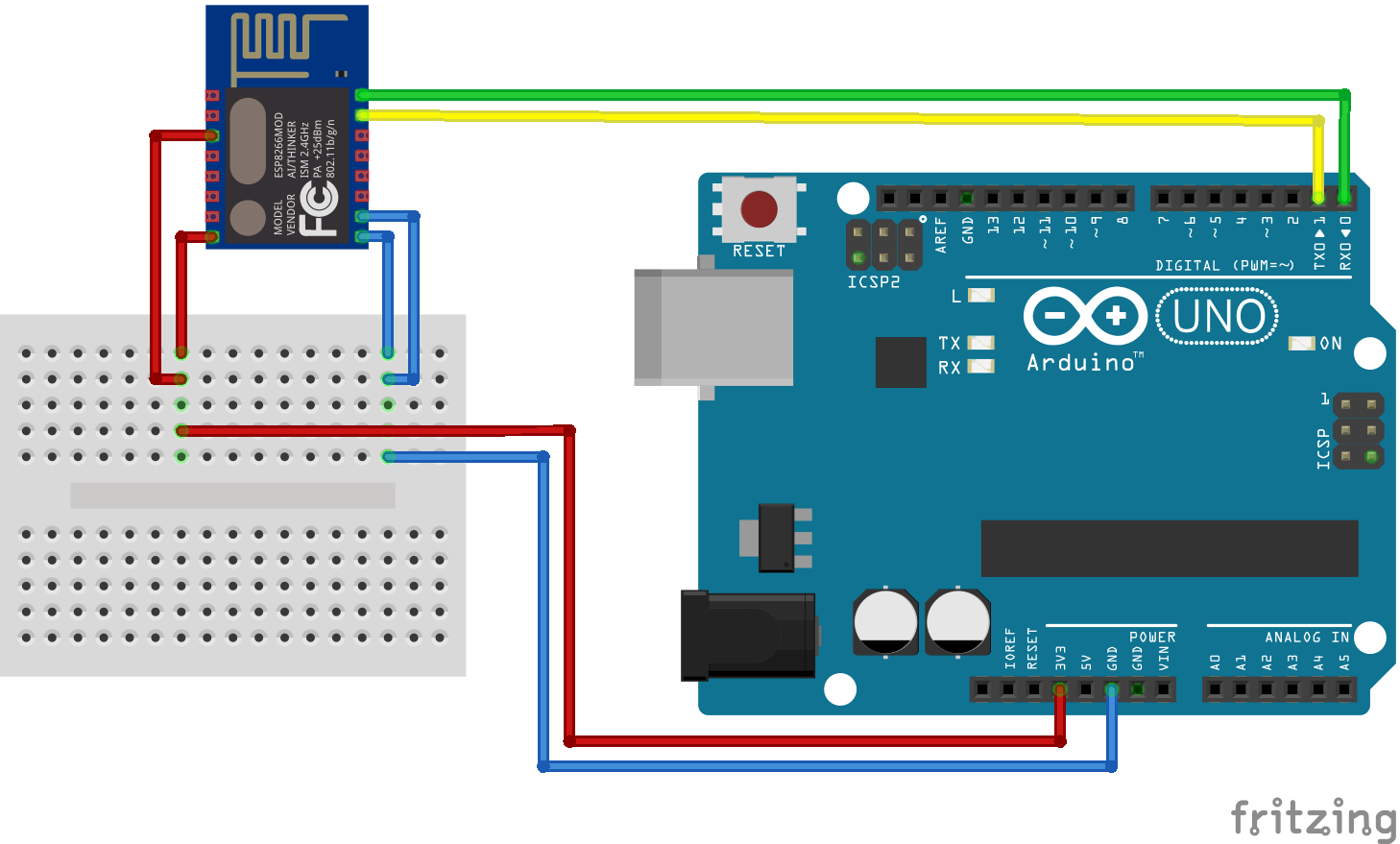 esp8266 esp-12 module aansluiten via Arduino
