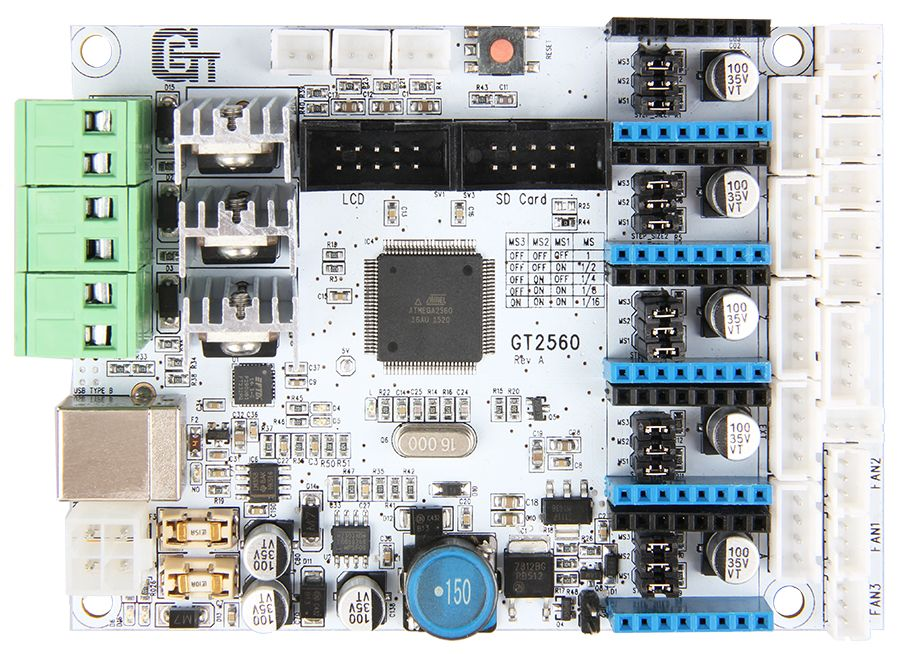 3D Printer control board - GT2560 bovenkant