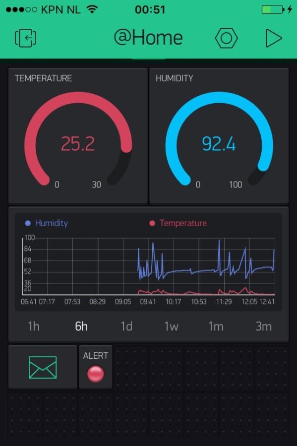 ESP-01 - Temperatuur- en luchtvochtigheidssensor blynk screen 01