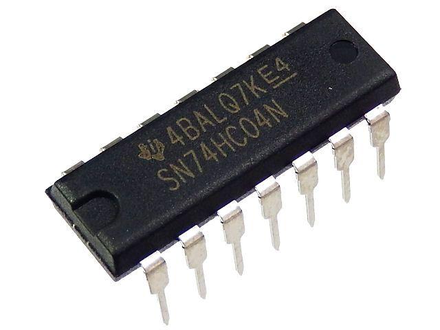 Inverter Gate 6-kanaals (SN74HC04N)