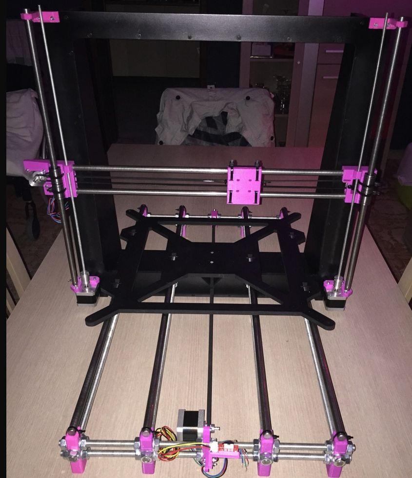MIST-MGPRi3RW - A laser-cuttable frame for Aldric Negrier's Mega Prusa i3