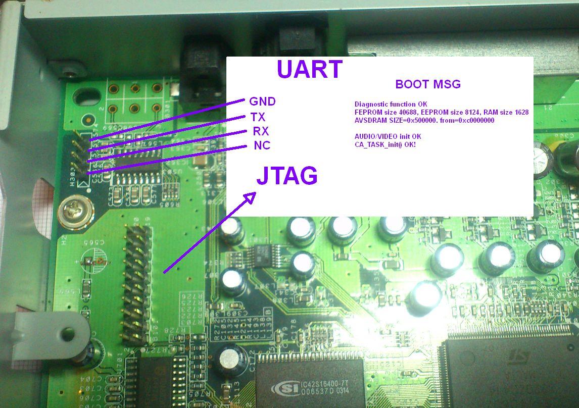 Panasonic TU-DC40RD decoder UART