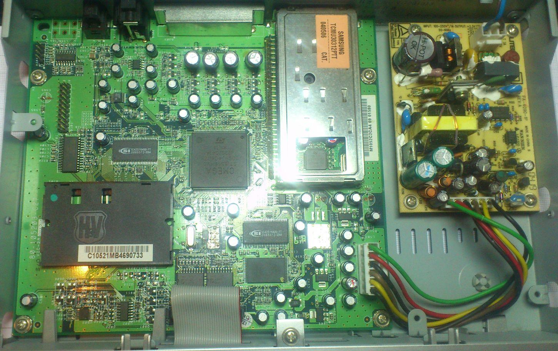 Panasonic TU-DC40RD decoder binnenkant