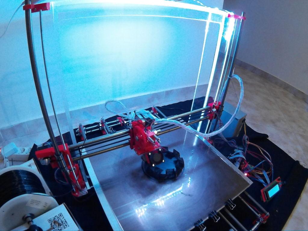 Prusa i3 Mega aan het printen