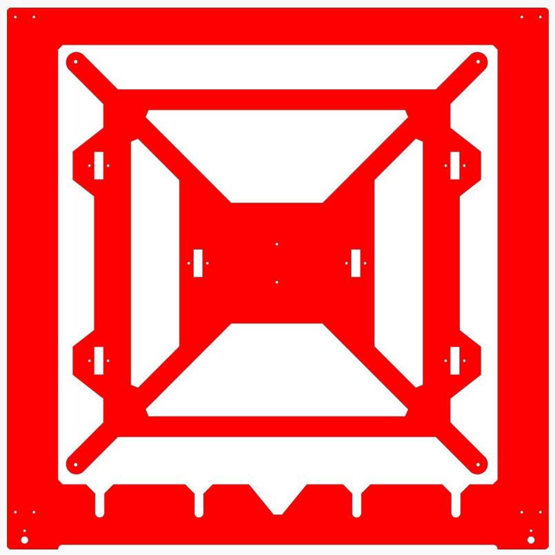 Prusa i3 Mega frame digitaal
