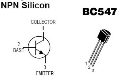 bc547 transistor pinout